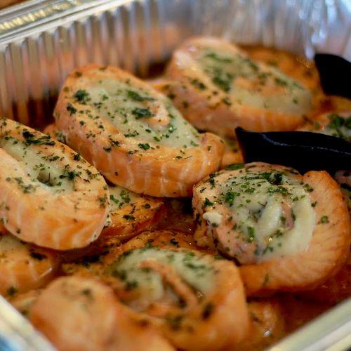 Salmon Wrap w/Scallop