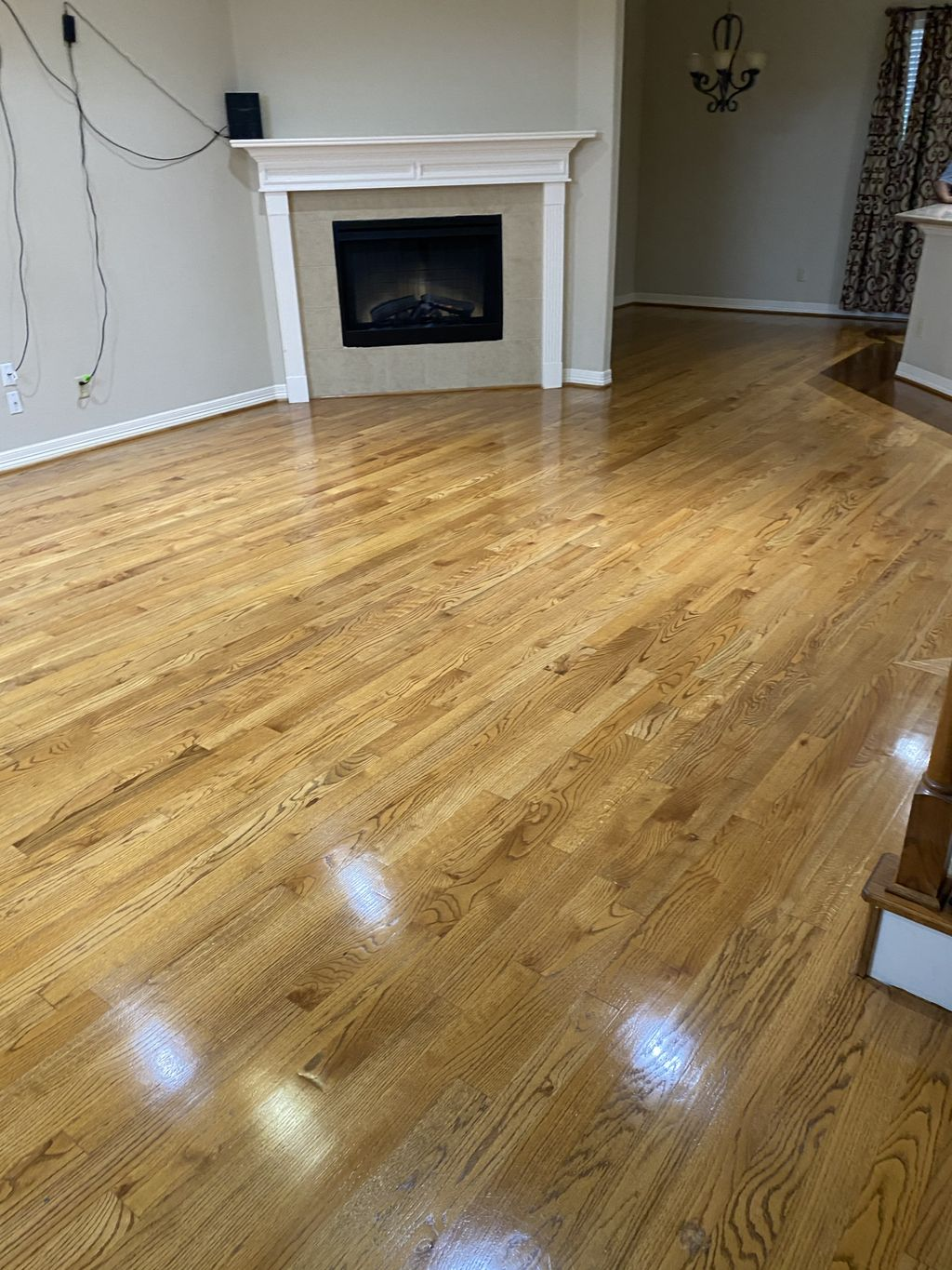 Hardwood Floor Refinish - Before and after photos