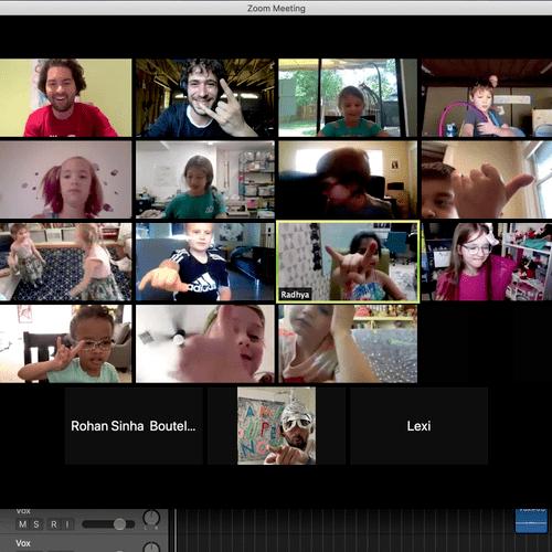 Songwriting lesson at virtual summercamp!