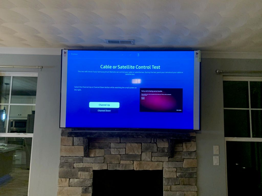 TV MOUNTING WITH CUSTOMER'S MOUNT