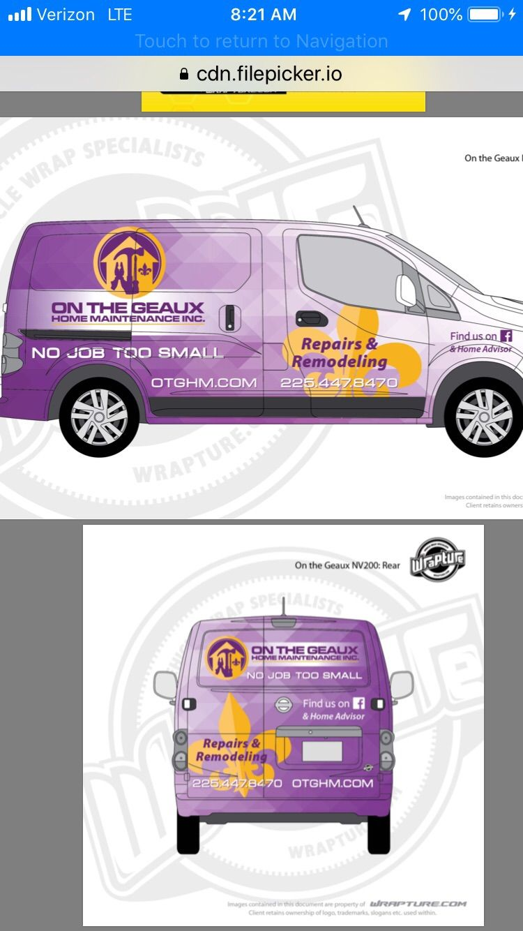 On The Geaux Home Maintenance, Inc.
