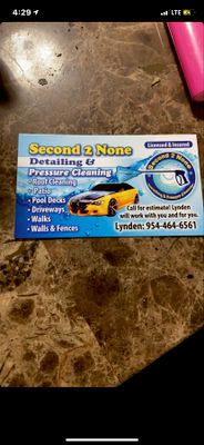 Avatar for Second2None Auto Detailing & Pressure Cleaning