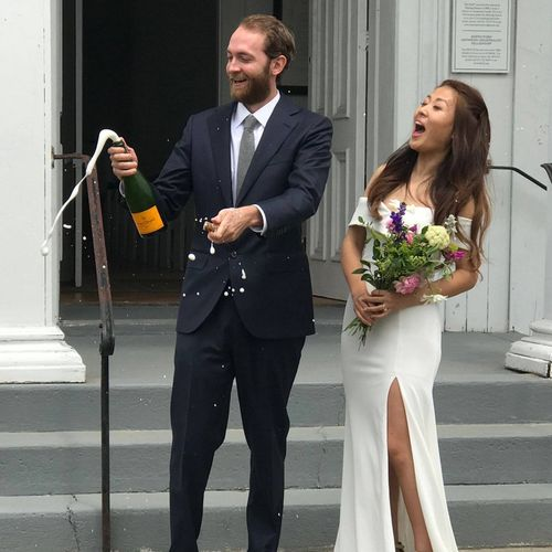 The new Mr. & Mrs. celebrate!