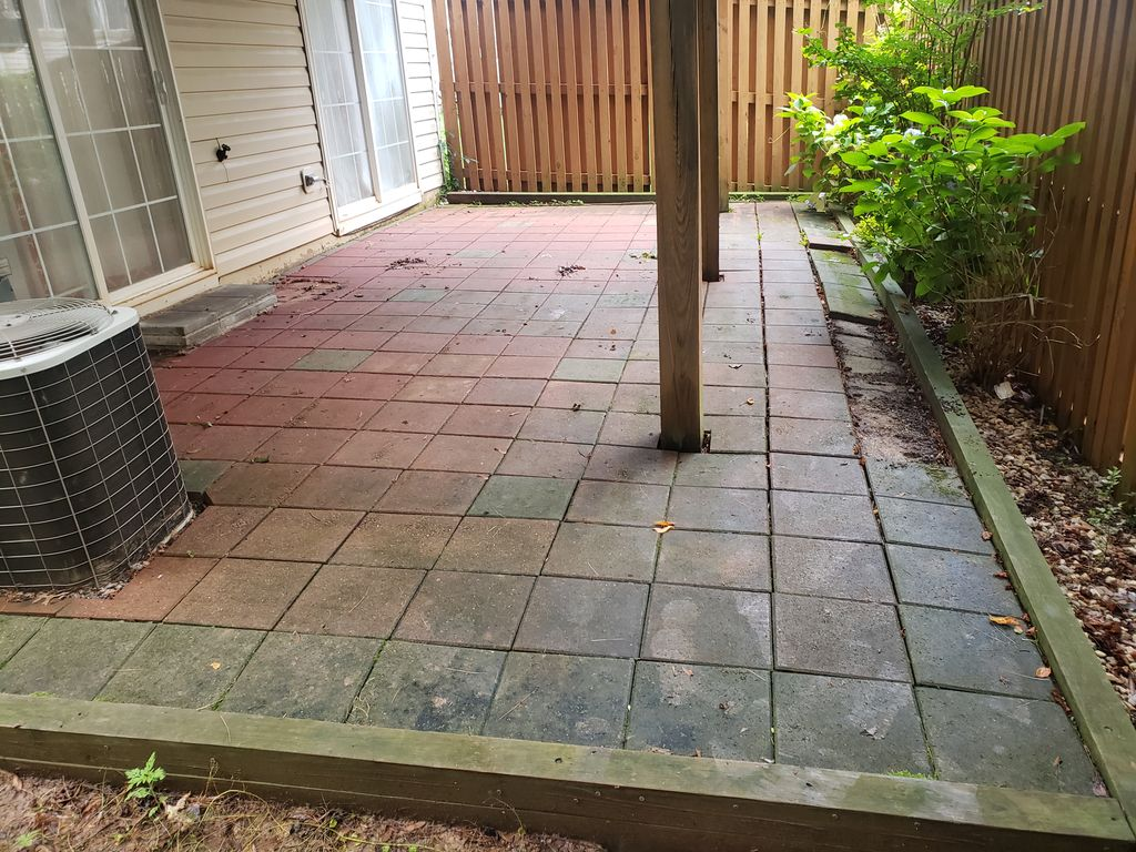 Re level brick patio