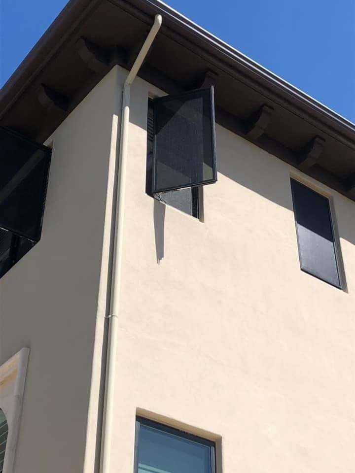 Sunscreens for casement windows