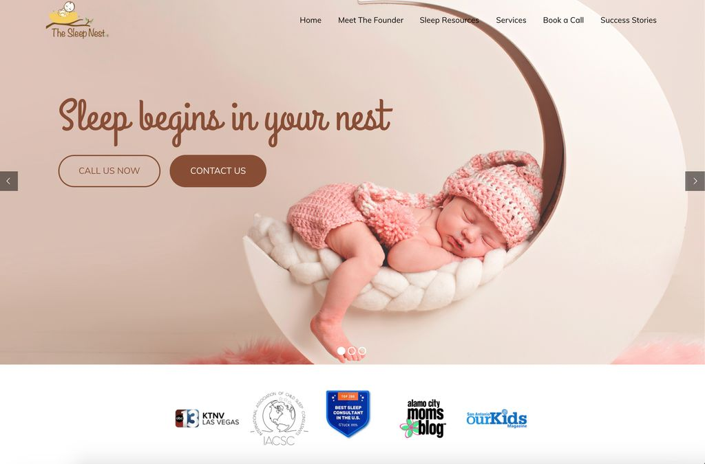 Sleep Consultant - Baby Website