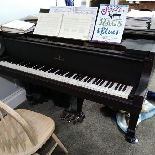 Our busy Steinway grand