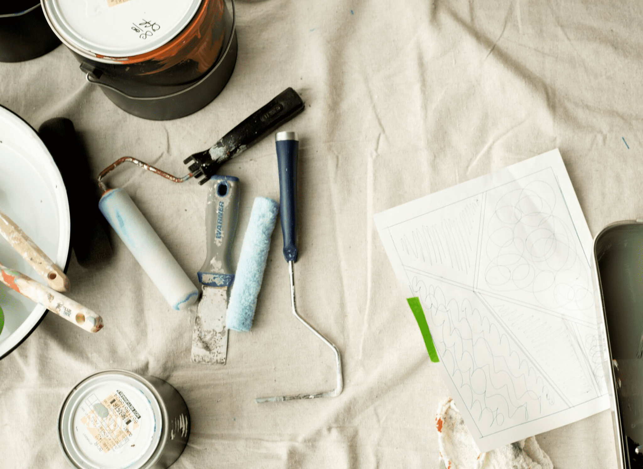 painting supplies and tools