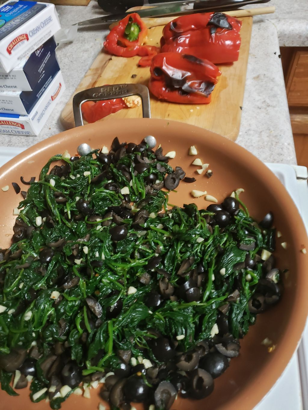 Spinach & Red Pepper Spread