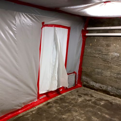 9x9  asbestos tile removal