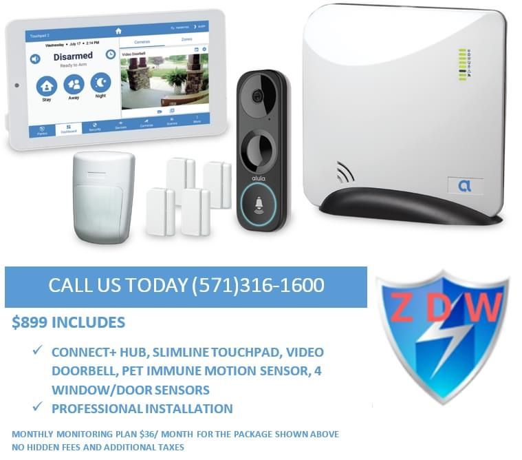 Home Security System with video doorbell