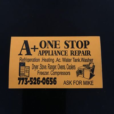 Avatar for A+ One stop appliance & heating repair
