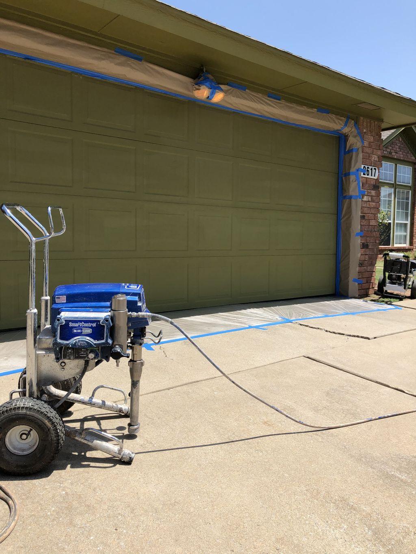 Garage door repainting