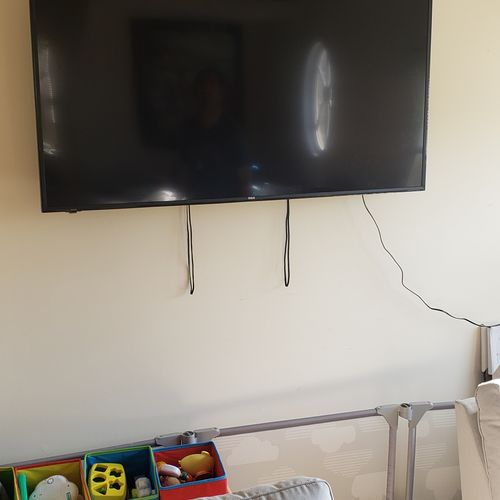 Tv Mounting customer said they would take care of cables