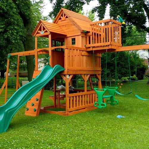 Backyard playset build