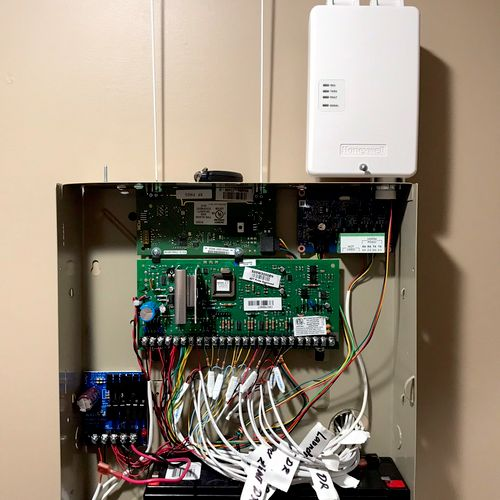 Newly pre wired Alarm home installation with radio backup