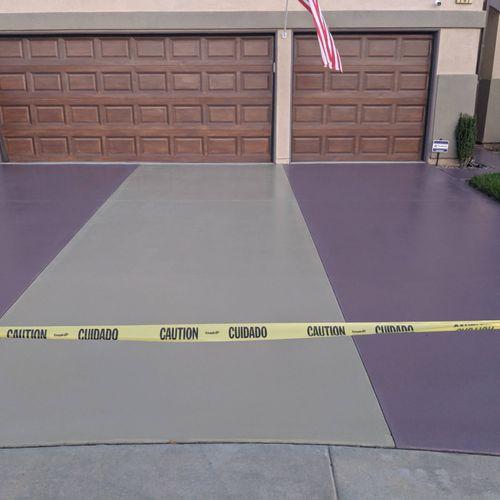 resin/epoxy driveway