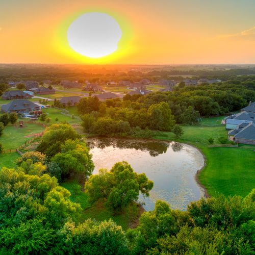 Drone Sunset Photography | Real Estate Photos OKC | Flow