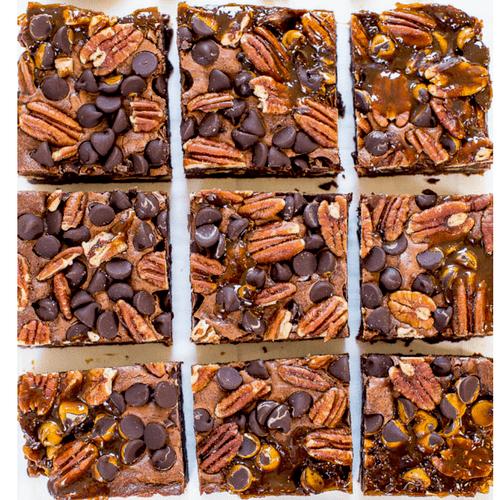 Chocolate Carmel Turtle Brownies