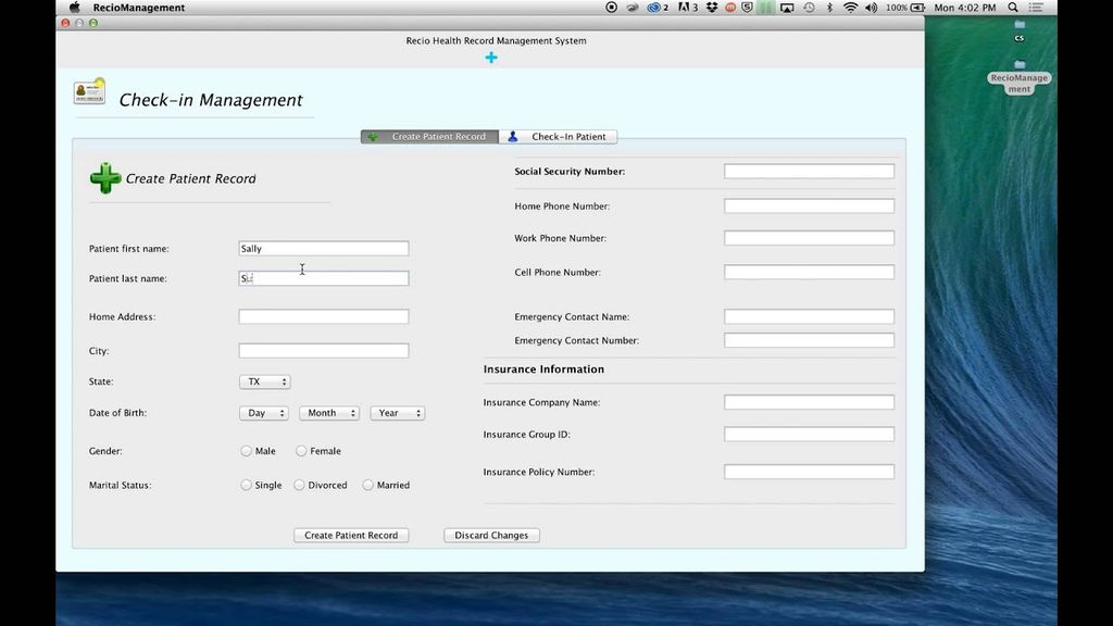 check in management system