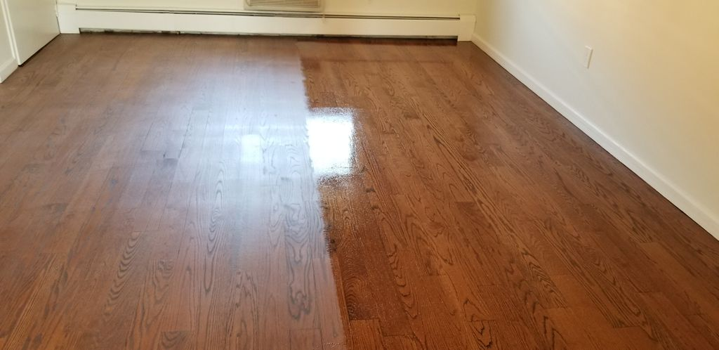 Floors stained with English Chestnut