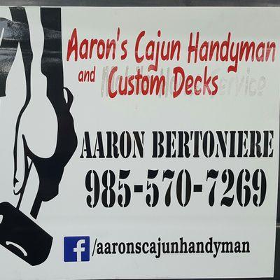 Avatar for Aaron's Cajun Handyman and Custom Decks LLC
