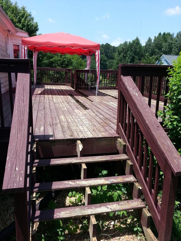 Rebuild a old deck