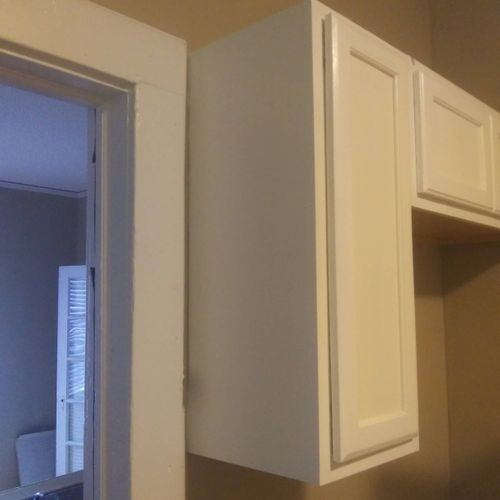 Install and painted cabinet