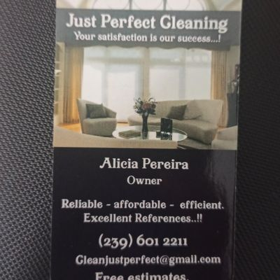 Avatar for Just Perfect Cleaning enterprises LLC