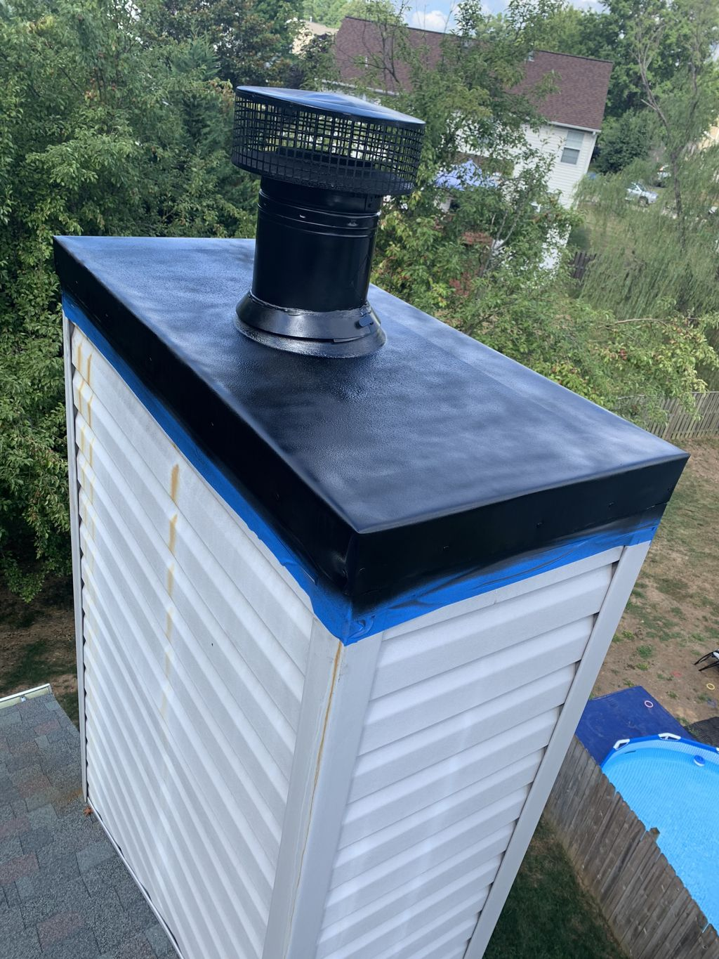 Chimney chase cover repair