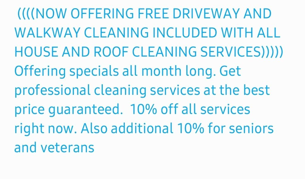 Free pavement cleaning included now