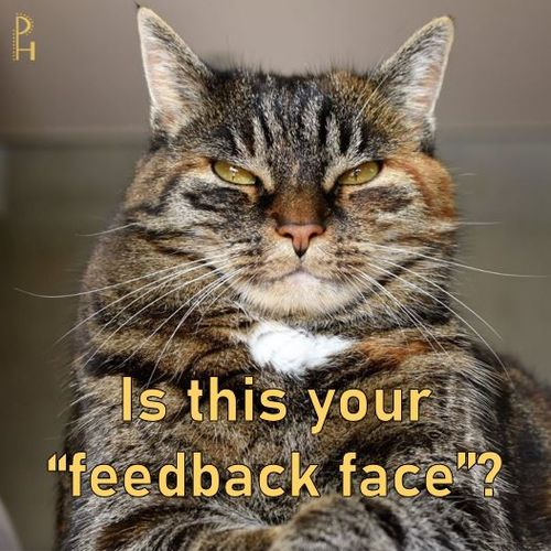 To be our best, we must receive feedback. It isn't fun, but without it, we cannot grow!