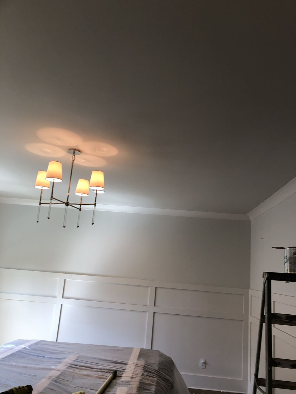 Accent wall and ceiling
