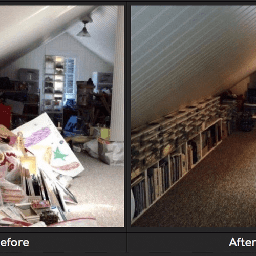 Craft Room - Created from Attic Catch-All