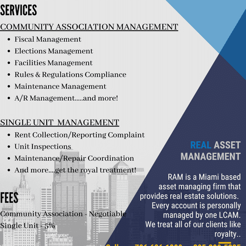 Real Asset Management Offerings