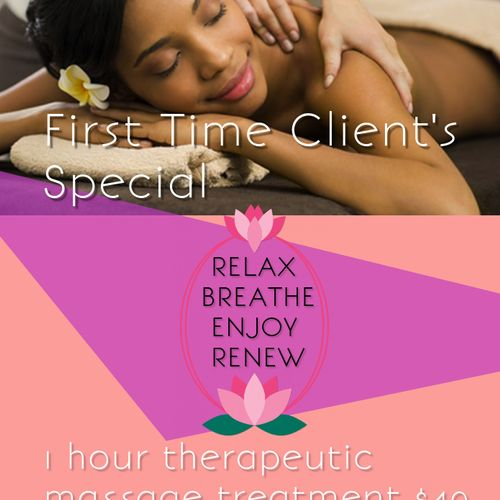 For first time clients! Call to book