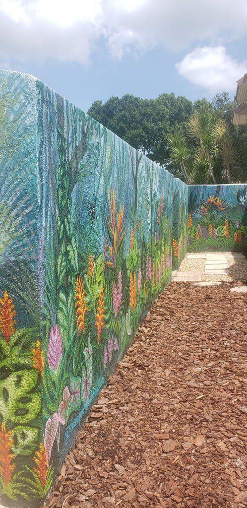 Outdoor Garden Mural