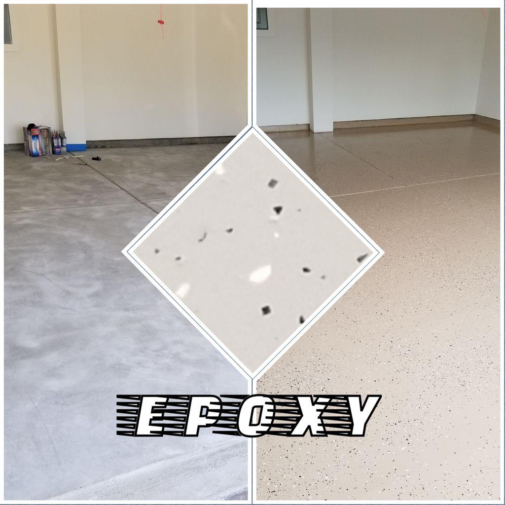 Garage floor epoxy sealant 2 coats