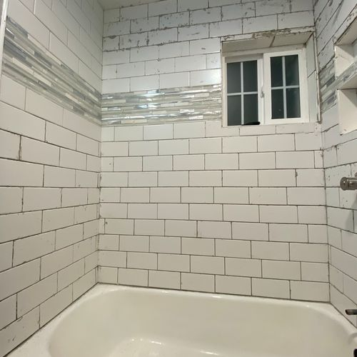 Little more cleanup and ready for grout!