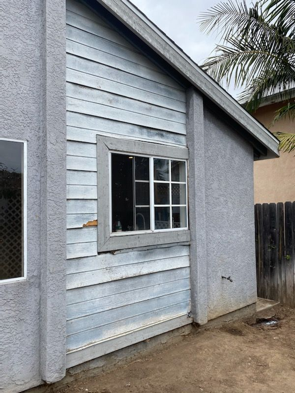 Replace siding with stucco