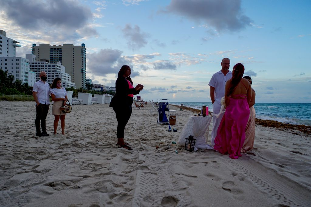 Small Ceremony On The Beach