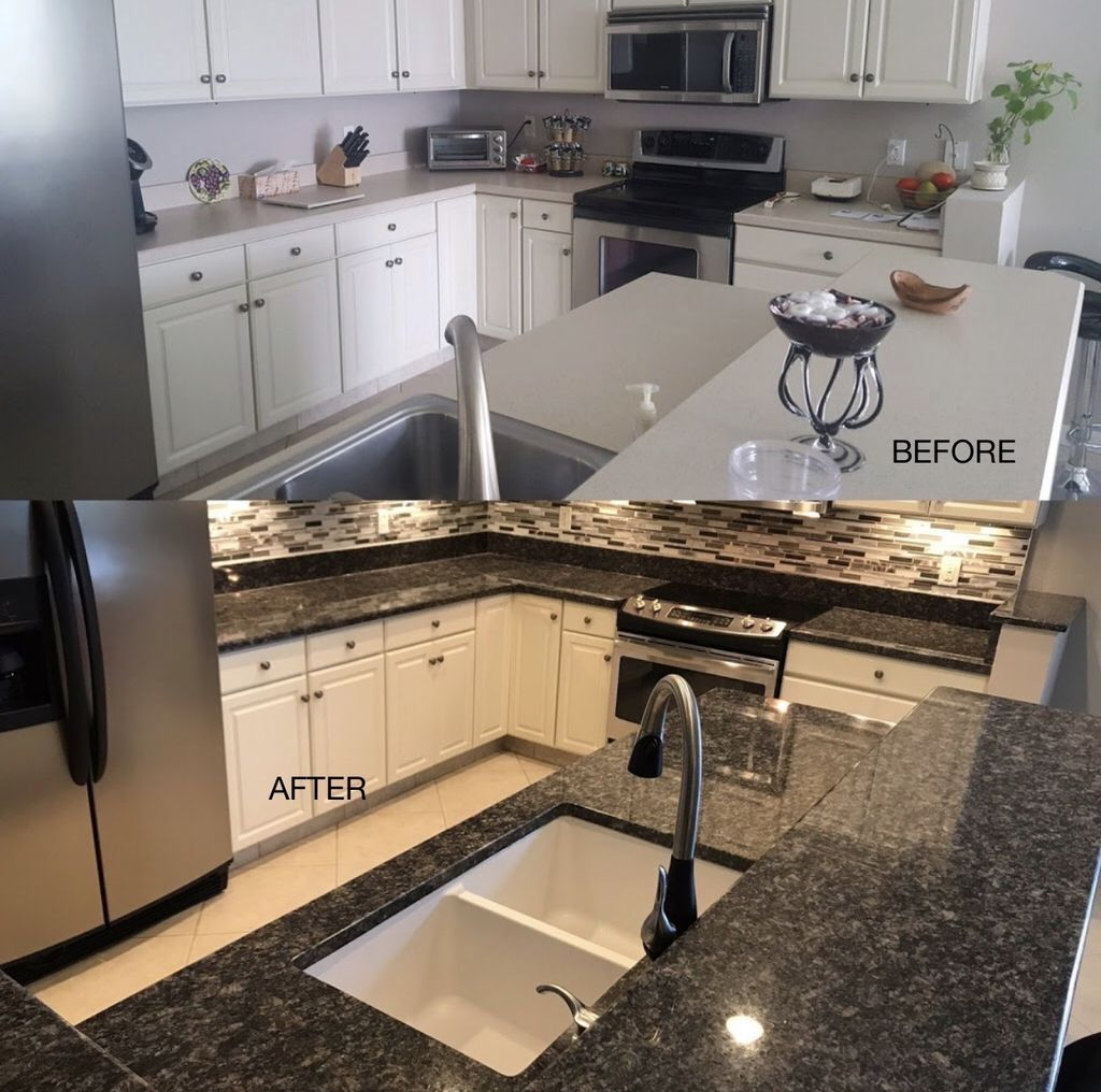Counter top and sink replacement