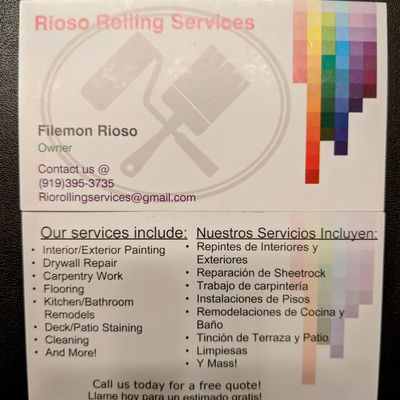 Avatar for Rioso Rolling Services
