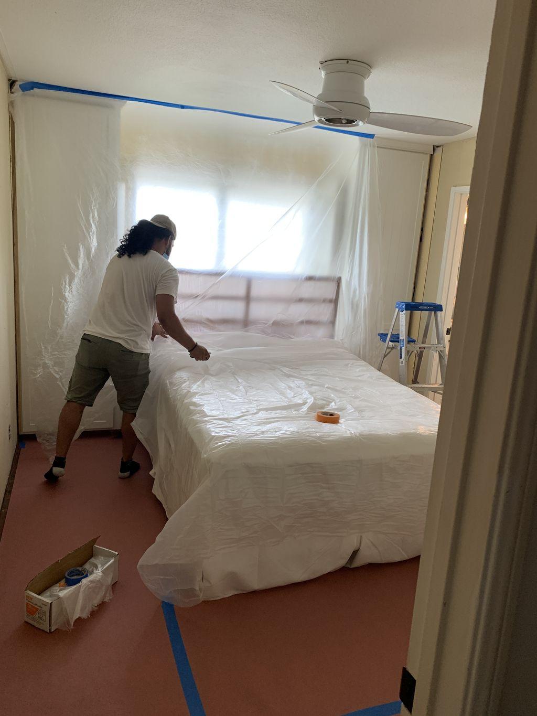Wall-repair, molding install And wallpaper