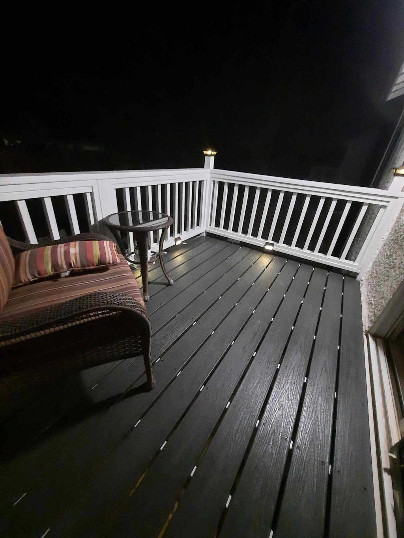 12 foot high deck