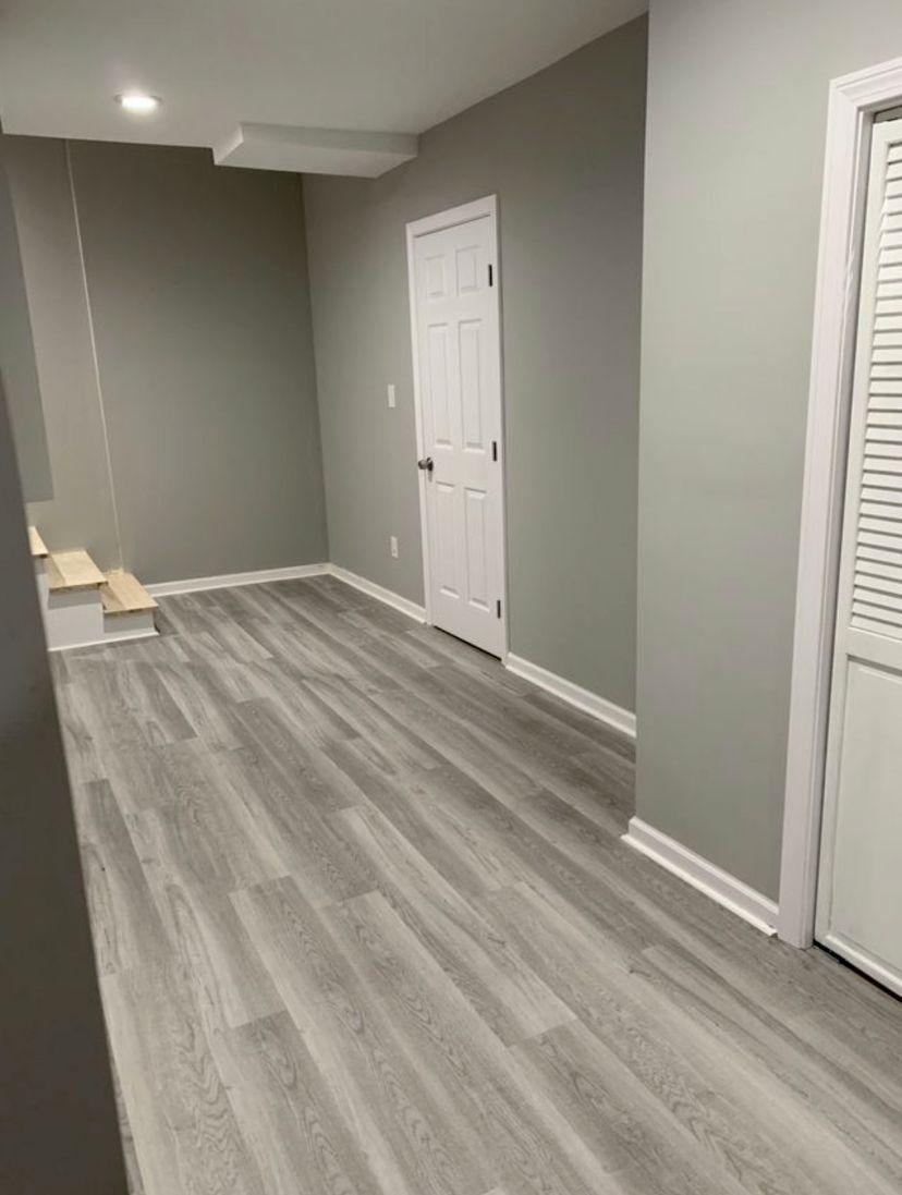 Basement Luxury Vinyl Plank
