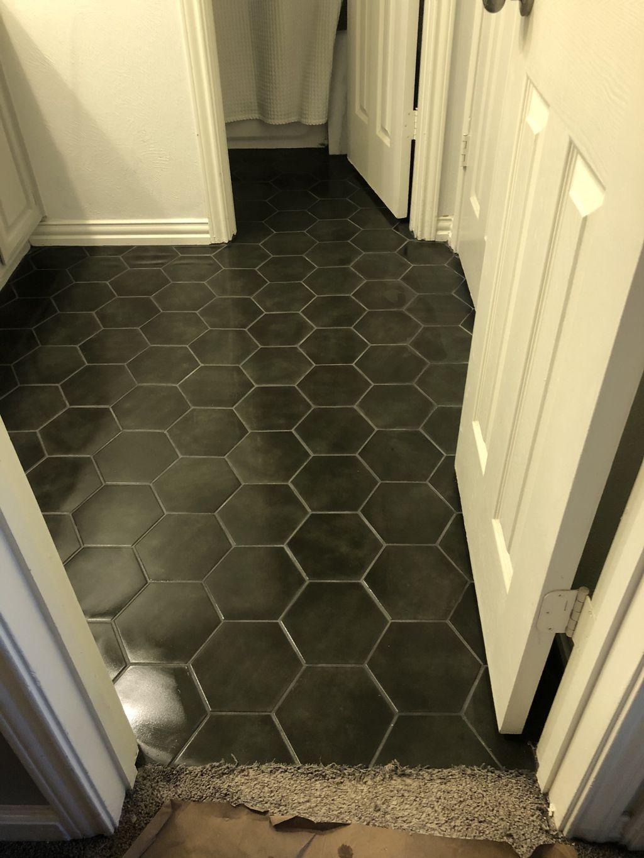 Hexagon Tile Install-Bathroom