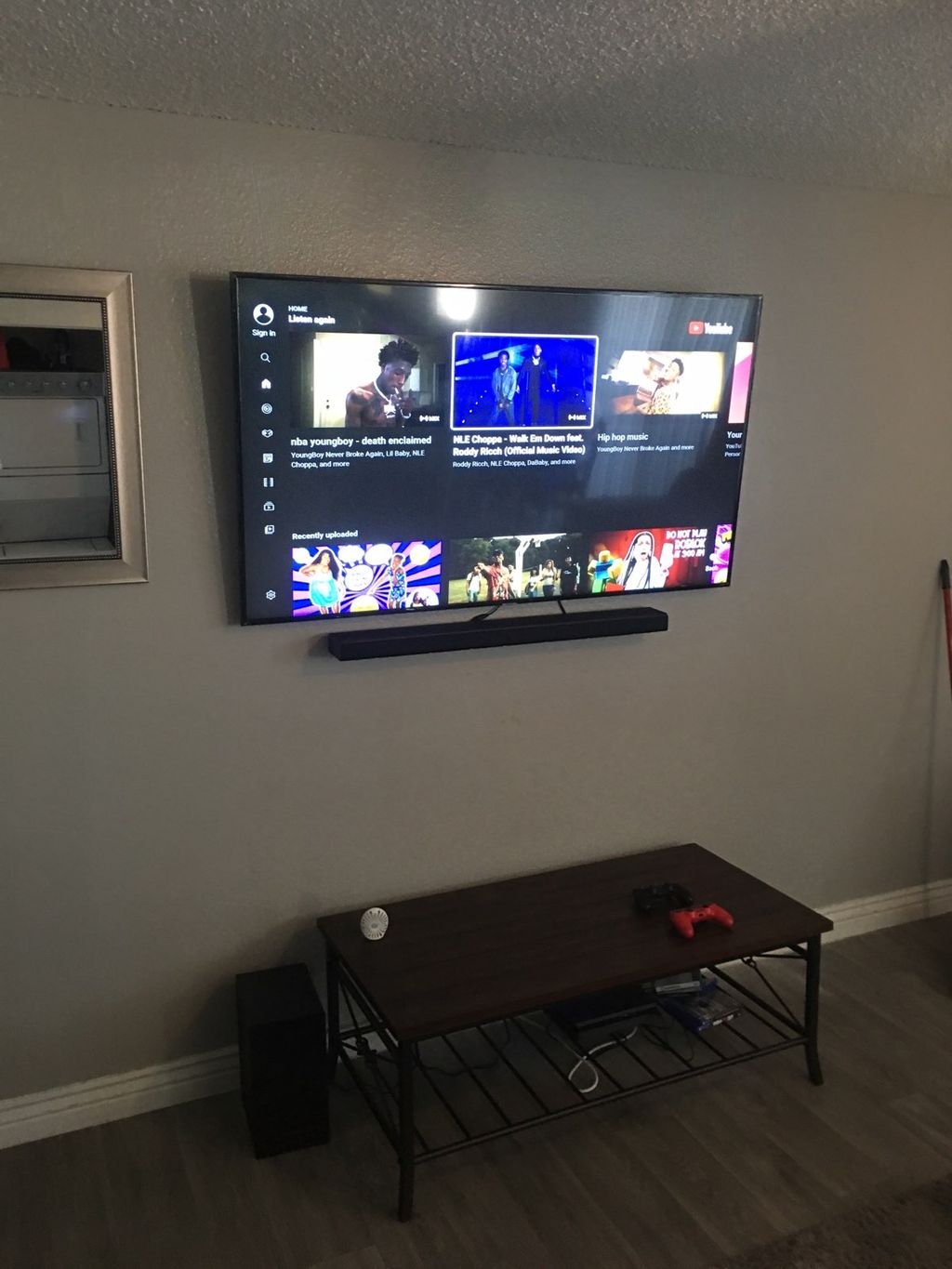 70 inch Tilt Install with Cable concealment