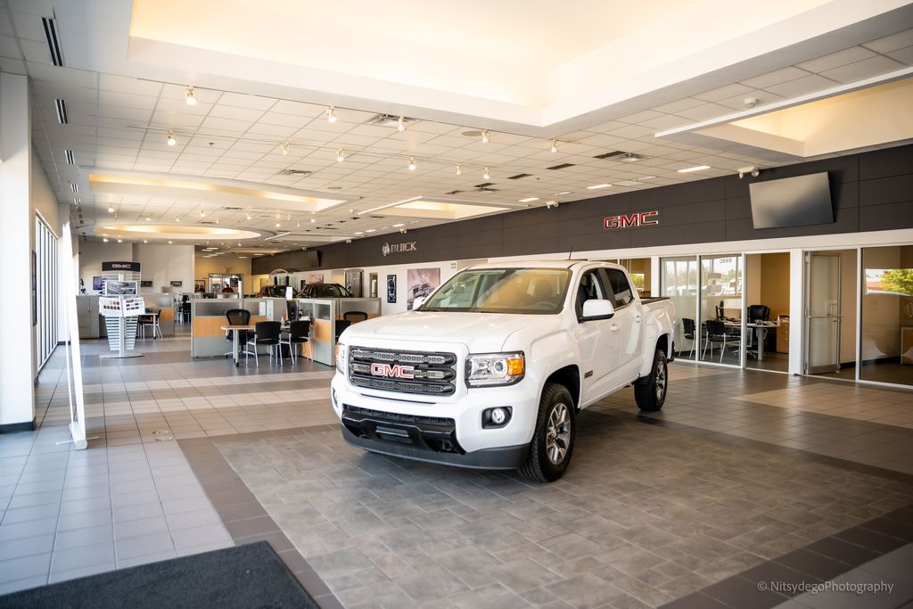 GMC and Buick car showroom