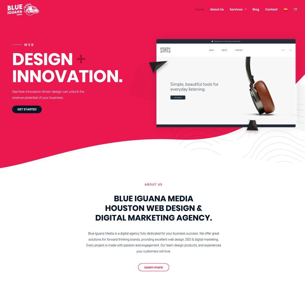 Blue Iguana Media Web Design Logo Houston Tx